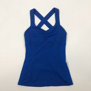 Lululemon Blue Yoga Tank with Bra Size 4